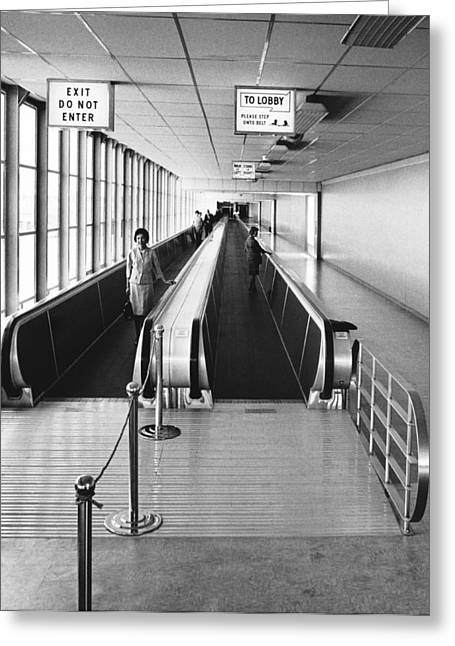 Speedwalk Conveyors At Sfo Greeting Card