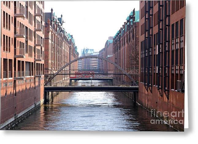 Speicherstadt Hamburg Greeting Card by Jannis Werner