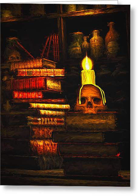 Spells Greeting Card by Bob Orsillo