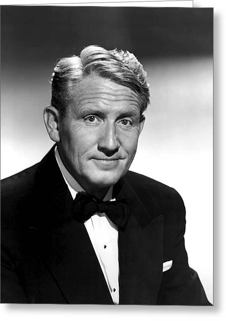 Spencer Tracy Greeting Card by Daniel Hagerman