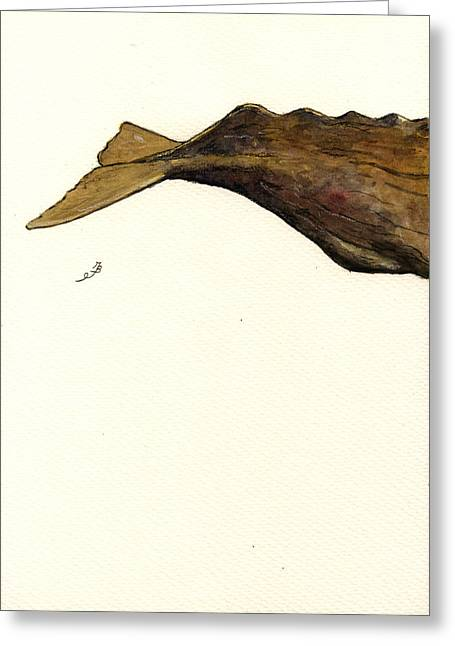 Sperm Whale Third Part Greeting Card