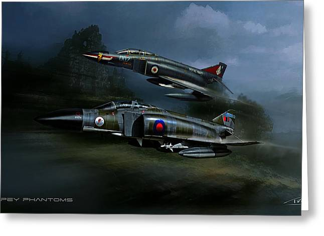Spey Phantoms Greeting Card by Peter Van Stigt