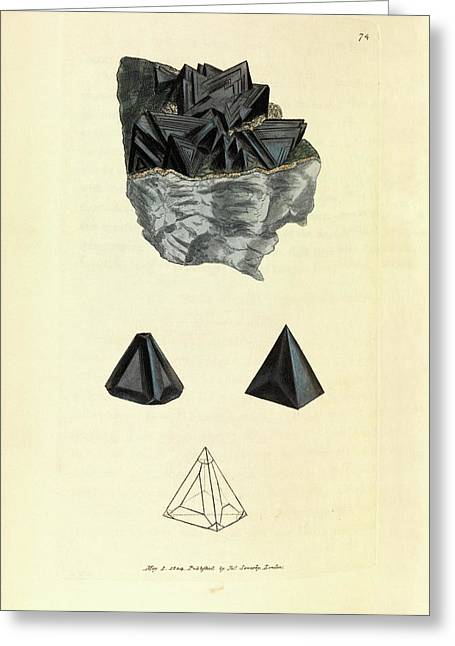 Sphalerite Mineral Greeting Card by Royal Institution Of Great Britain
