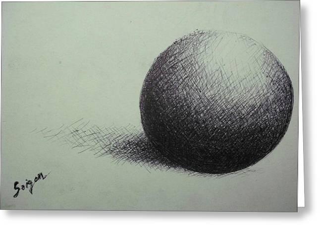 Sphere  Greeting Card by SAIGON De Manila
