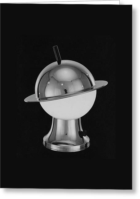 Spherical Lamp With Chromium Base Greeting Card by Martinus Andersen
