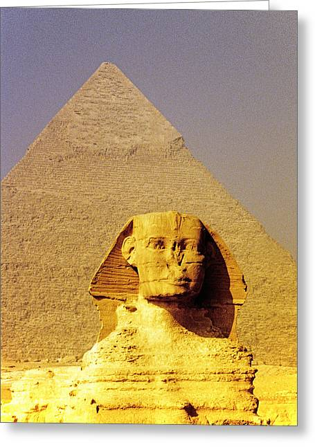 Sphinx And Pyramid Greeting Card