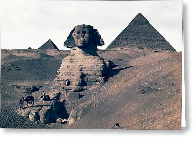Sphinx Of Egypt - 1867 Greeting Card by Daniel Hagerman