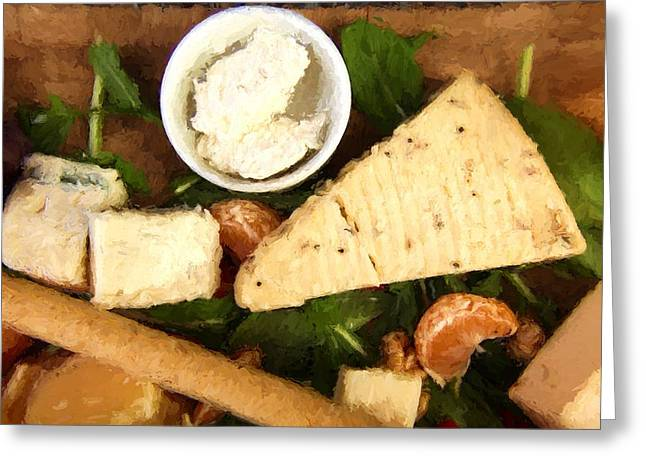Spice Cheese Plate Greeting Card