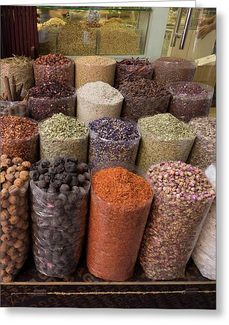 Spice Market, Dubai, United Arab Greeting Card by Panoramic Images
