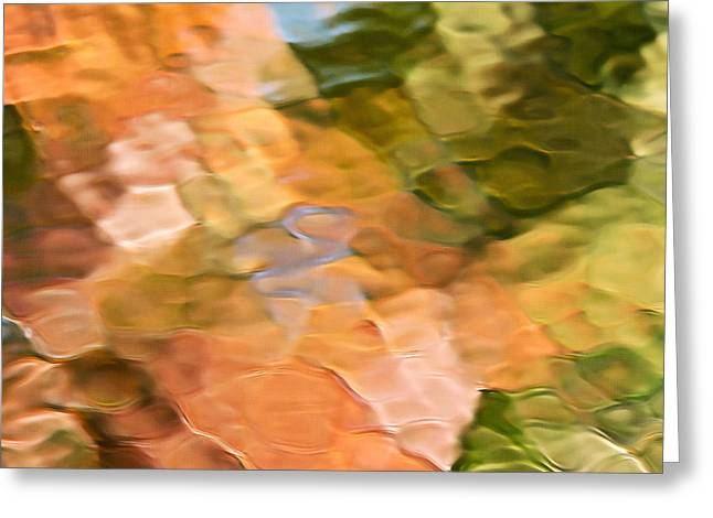 Spice Mosaic Abstract Square Greeting Card by Christina Rollo
