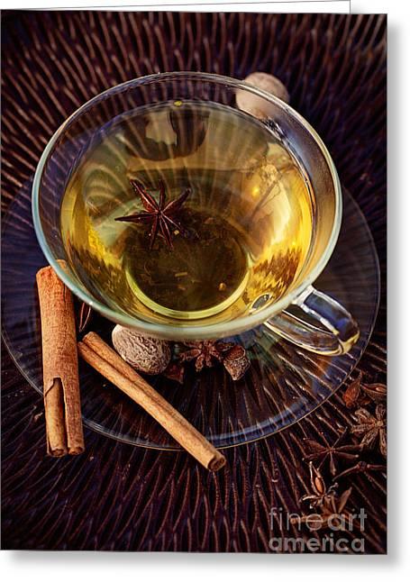 Spiced Tea Greeting Card by Mythja  Photography