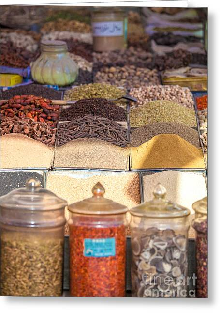 Spices For Sale At Kashgar Bazaar Greeting Card