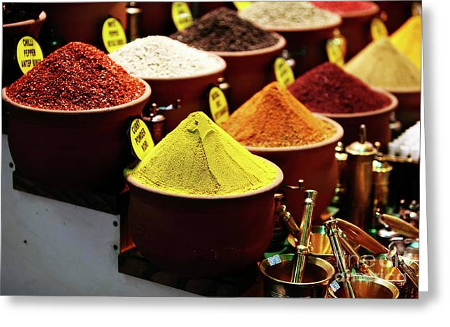 Spices Greeting Card by John Rizzuto