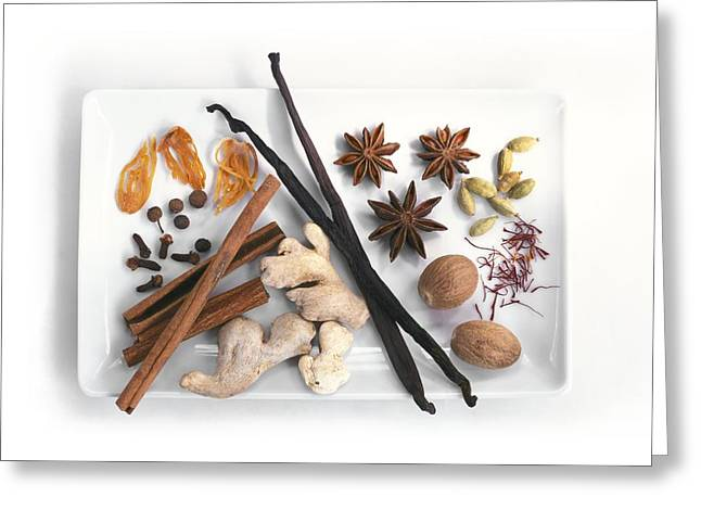 Spices Greeting Card by Science Photo Library