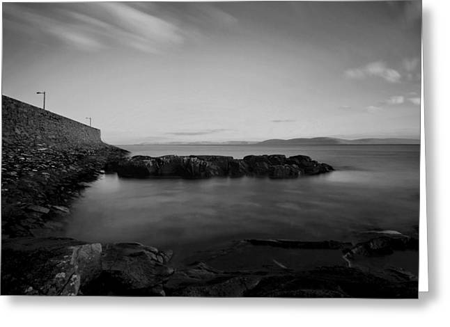 Spiddal Pier Greeting Card by Peter Skelton