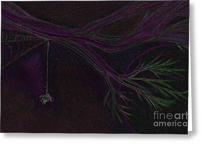 Spider Branch By Jrr Greeting Card