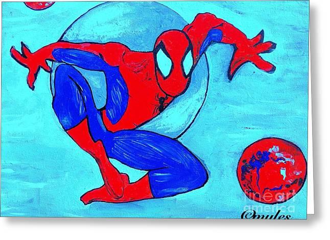 Spider-man  Greeting Card by Saundra Myles
