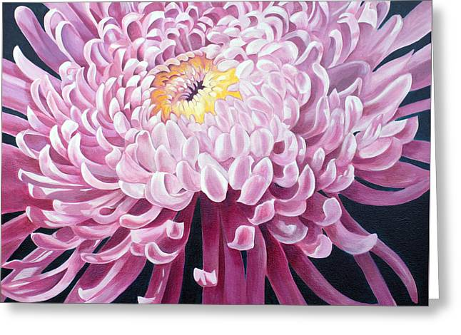 Greeting Card featuring the painting Spider Mum by Debbie Hart