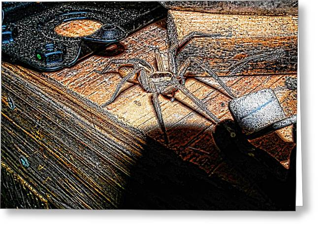 Greeting Card featuring the digital art Spider On The Move by Robert Rhoads