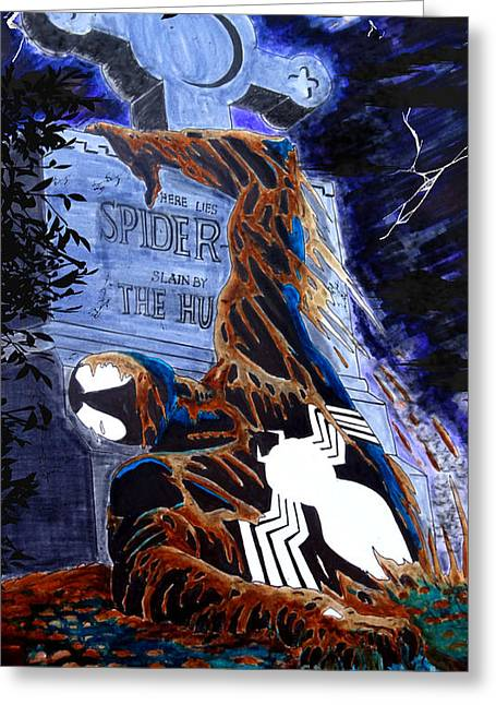 Spider Resurrection Greeting Card by Justin Moore
