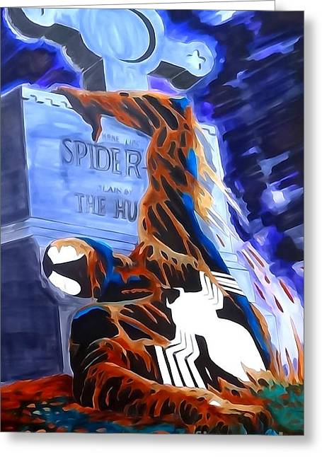 Spider Resurrection Watercolor Greeting Card by Justin Moore