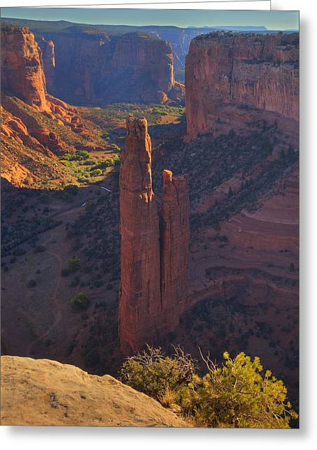 Greeting Card featuring the photograph Spider Rock by Alan Vance Ley