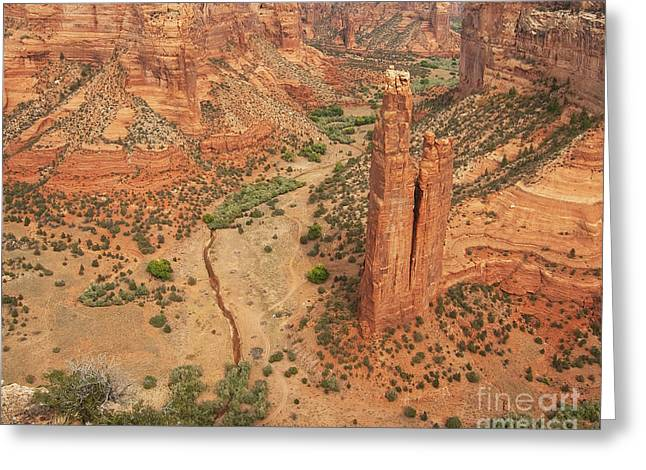Greeting Card featuring the photograph Spider Rock by Bob and Nancy Kendrick