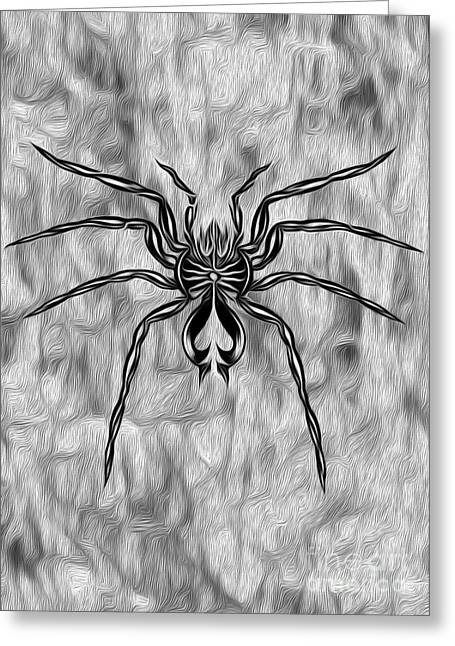 Spider Tatoo Greeting Card by Gregory Dyer