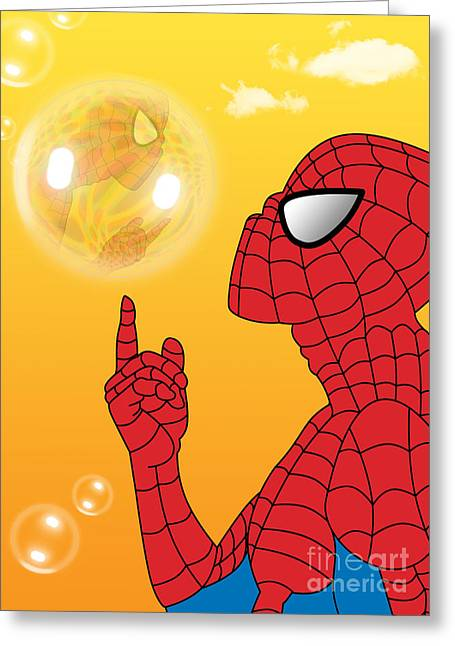 Spiderman 3 Greeting Card by Mark Ashkenazi