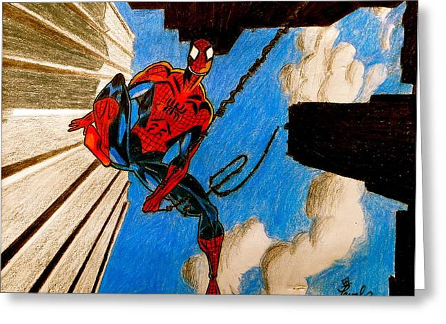 Spiderman Greeting Card by Artistic Indian Nurse