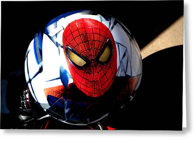 Spiderman Greeting Card by Bruce Iorio