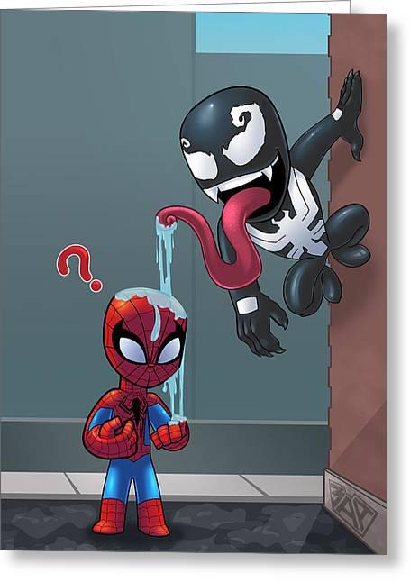 Spiderman Vs Venom Digital Art By Michael Adams
