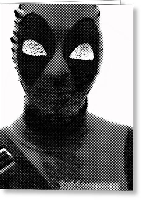 Spiderwoman Popart Greeting Card by Tommytechno Sweden