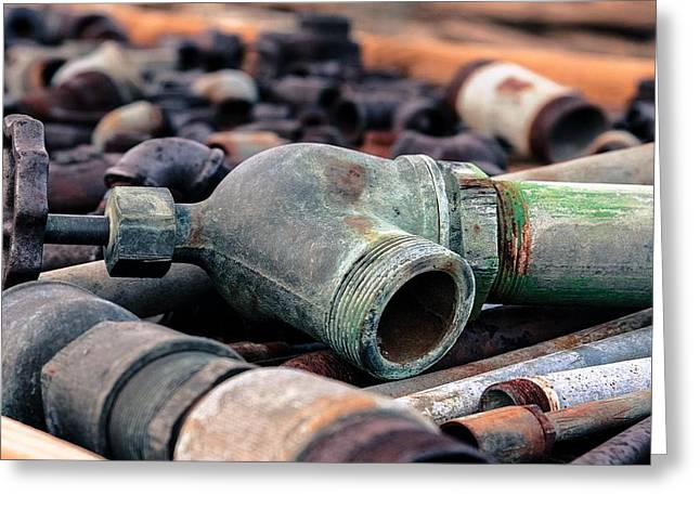 Spigots And Pipes Greeting Card