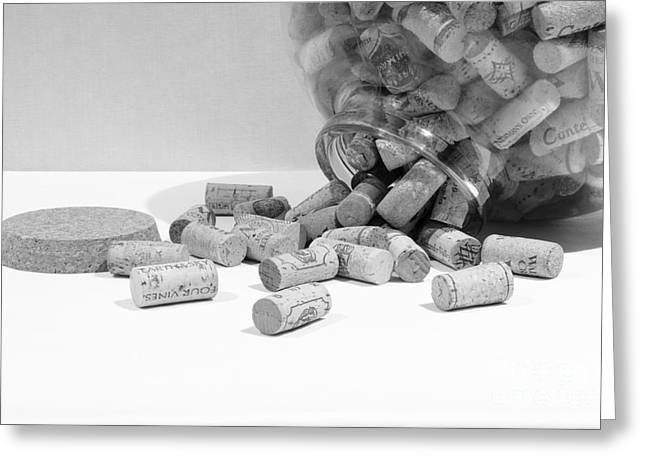 Spill The Corks Greeting Card by John Debar
