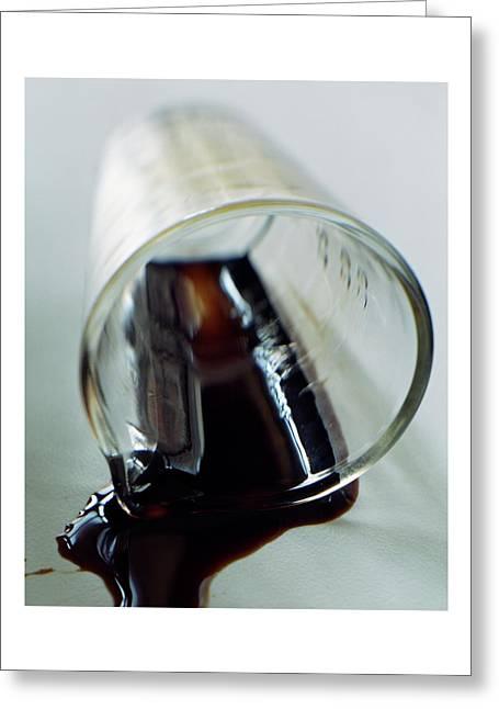 Spilled Balsamic Vinegar Greeting Card