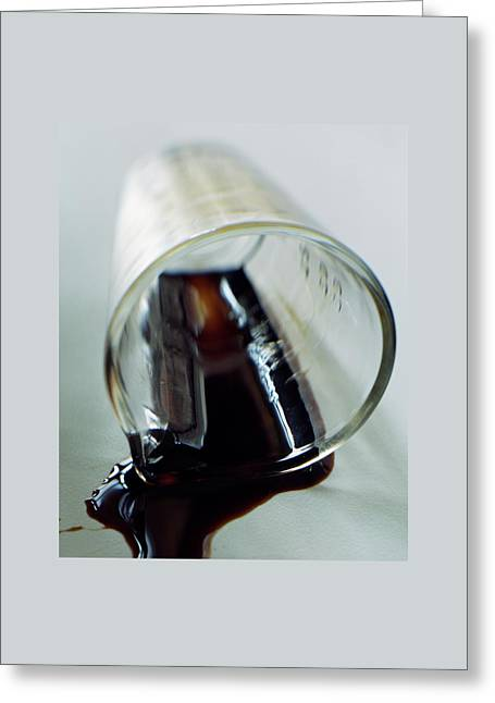 Spilled Balsamic Vinegar Greeting Card by Romulo Yanes