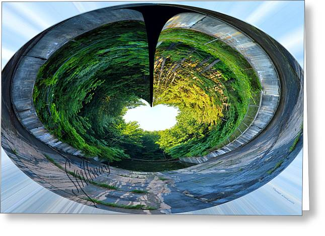 Spillway Greeting Card by Thomas Woolworth