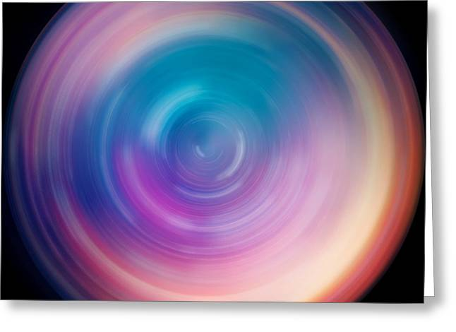 Spin Art 1 Greeting Card by Jennifer Rondinelli Reilly - Fine Art Photography