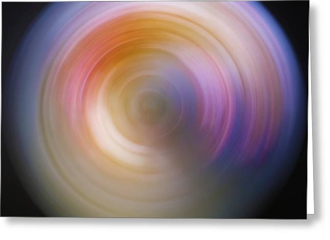 Spin Art 2 Greeting Card by Jennifer Rondinelli Reilly - Fine Art Photography