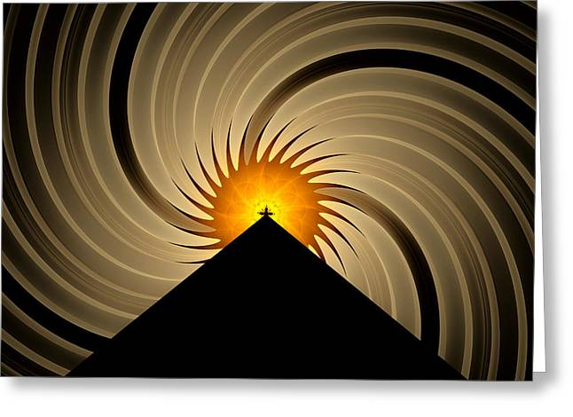 Greeting Card featuring the digital art Spin Art by GJ Blackman