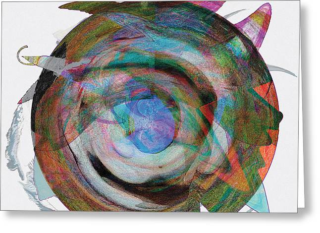 Spin One Greeting Card by David Klaboe