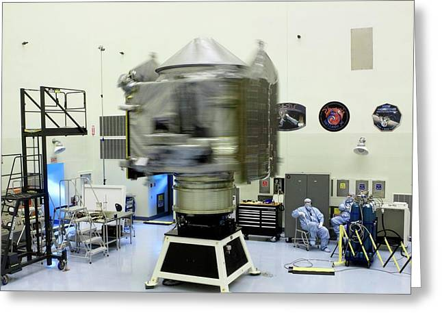 Spin Test Of The Maven Spacecraft Greeting Card
