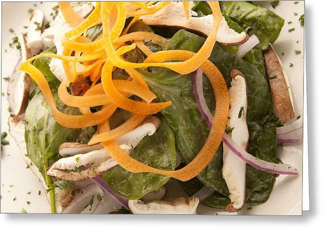 Spinach Salad Greeting Card