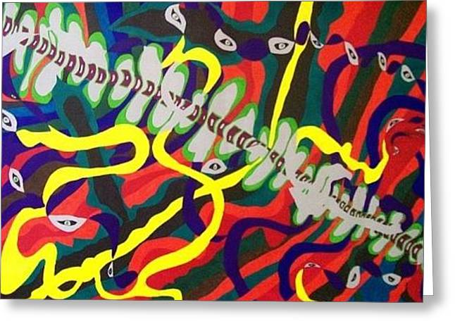 Spinal Eye Greeting Card by Jonathon Hansen