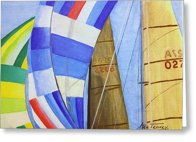 Spinnakers Greeting Card