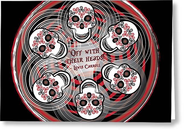 Spinning Celtic Skulls Greeting Card