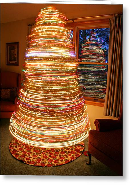 Spinning Christmas Tree Greeting Card