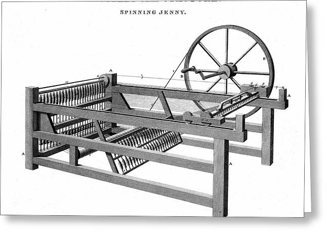 Spinning Jenny Greeting Card by Universal History Archive/uig