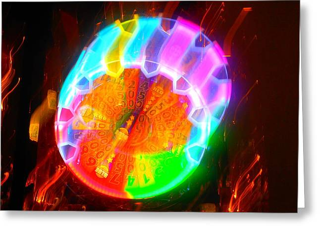 Spinning Orb In The Cosmos Greeting Card by James Welch